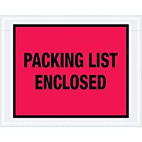 Boxes Fast Tape Logic Packing List Enclosed Envelopes 7 x 5 1/2 Red (Pack of 1000) [並行輸入品]