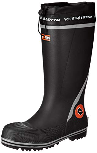 [ロットワークス] LW-R1001 セーフティブーツ 安全長靴 作業用長靴 鋼鉄製先芯 速乾吸汗裏布 幅広(EEE) メンズ ブラック 26 cm 3E