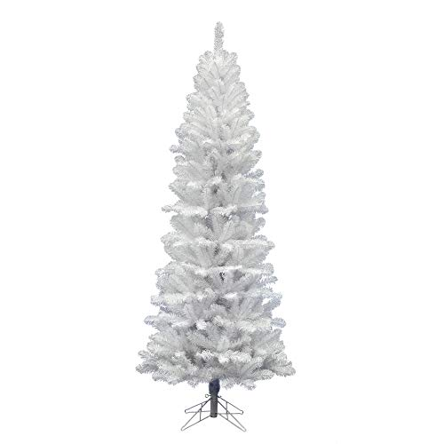 Vickerman White Salem Pencil Tree Pine with 679 Tips, 7.5-Feet by 36-Inch