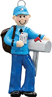 Personalized Mailman Christmas Tree Ornament 2019 - Postman Carry Mails Bag Uniform Holiday Postal Service Parcel Office Coworker Profession Letter New Job Gift Year - Free Customization