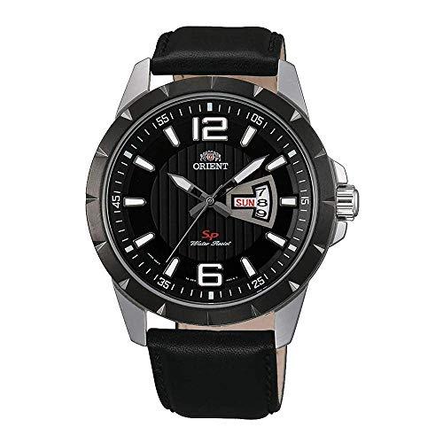 Orient Reloj Analógico para Hombre de Cuarzo con Correa en Cuero FUG1X002B9