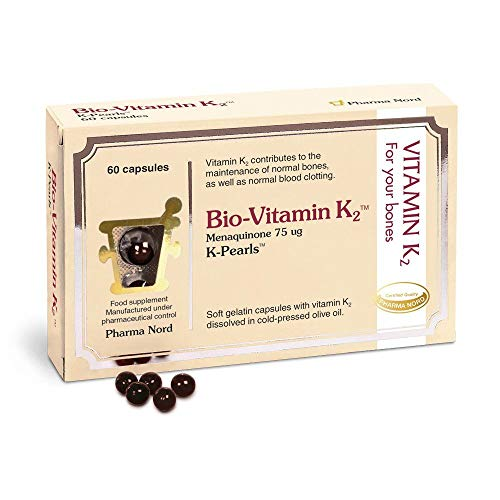 Pharma Nord K-Pearls Bio-Vitamin K2 - 60 Capsules - MK-7 Menaquinone 75mcg