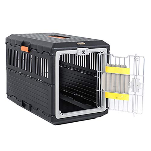 Transportin Portador portátil doblado de jaulas para perros, perrera de transporte al...