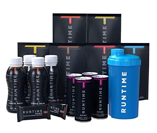 Runtime Starter Pack - vollwertiger Mahlzeitersatz für langanhaltende Sättigung, Energie, Konzentration und Leistungsfähigkeit, mit Vitaminen und Nährstoffen
