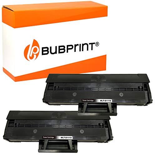 Bubprint Kompatibel XXL Toner 200 Prozent mehr Inhalt als Ersatz für Samsung MLT-D111S für Xpress M2020 M2020W M2021W M2022 M2022W M2026 M2026W M2070 M2070F M2070W M2070FW Schwarz 2er-Pack