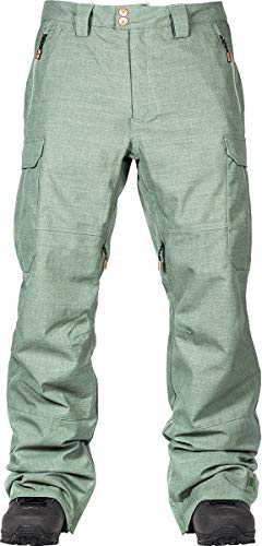 L1 Premium Goods Brigade Panrt '21 - Pantaloni da Snowboard da Uomo Impermeabili e Traspiranti, Uomo, Pantaloni da Neve, 873730, Fatigue, L