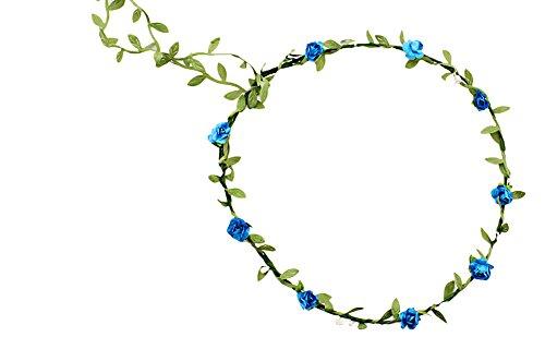 Butterme Fleur de Mariage de Bohême Couronne de couronnes de Fleurs en Corail Fantaisies de Fantaisie Floral pour Mariage de fête Beach-Multicolor Disponible
