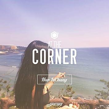 At the corner