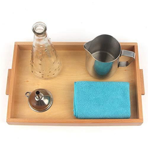 Bandeja Montessori con utensilios