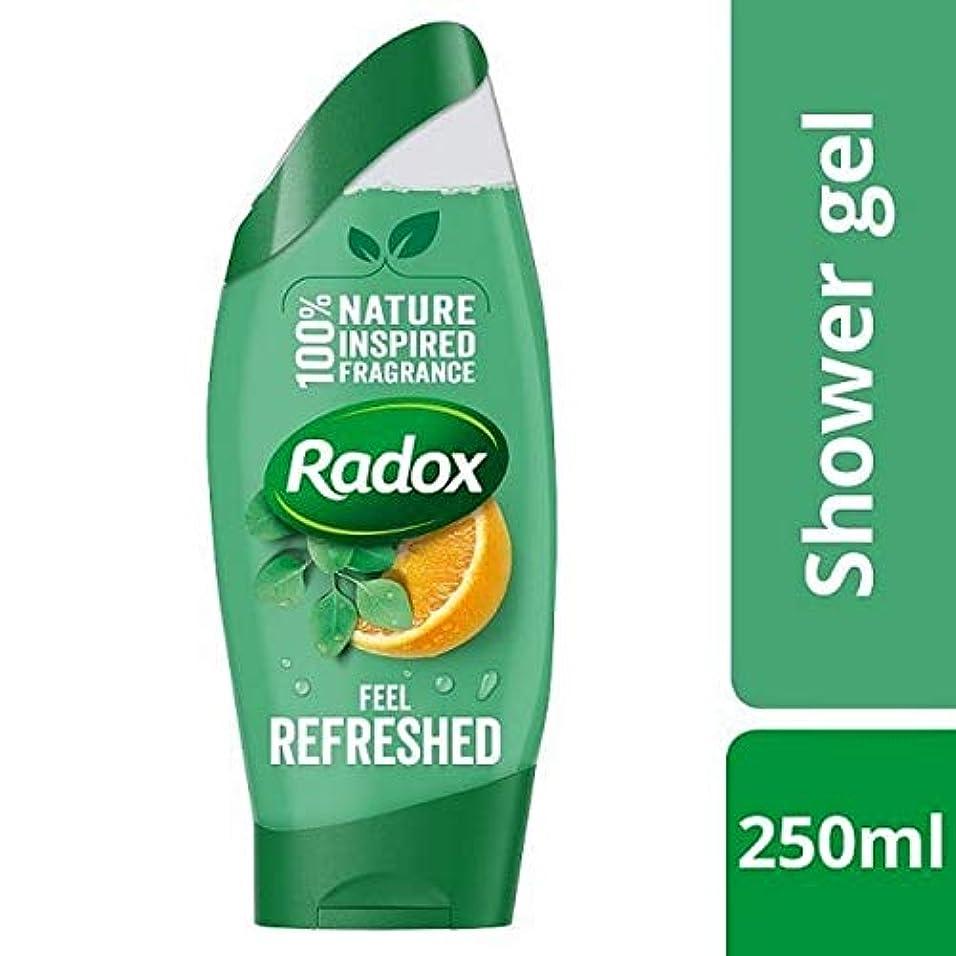 グロー活性化する有効化[Radox] Radoxが更新ユーカリ&シトラスシャワージェル250ミリリットルを感じます - Radox Feel Refreshed Eucalyptus & Citrus Shower Gel 250ml [並行輸入品]