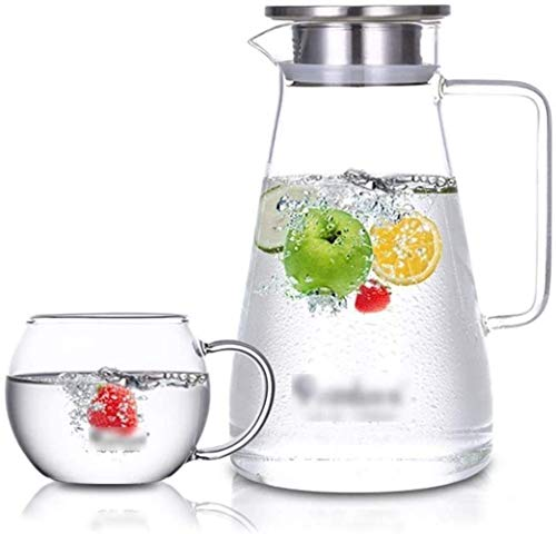 KMMK Hervidor de Agua de Uso Doméstico, Lanzador Tetera Tetera Tetera Tetera Copa Copa de Cristal Reutilizable Helado Tetera Ideal para Hielo Té Café Leche Y Botellas de Zumo,13,1 × 23 × 7,6Cm,13,1 ×