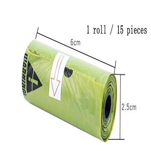 SHAOLIN 10 Rollen = 150 Stück Toilettenbeutel für Hunde, Müllsäcke für Haustiere im Freien, Kotbeutel für Hunde, Kotzubehör, tragbare Hygiene