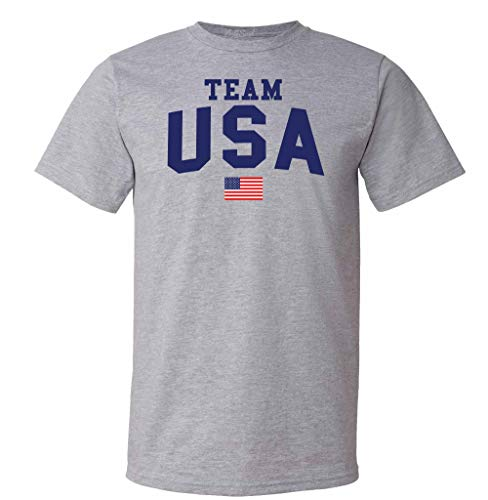 Psalm Life Team USA 2021 Summer Olympics Games T-Shirt - Unisex 4th of July Tee (Small, Sport Grey - Navy Ink)