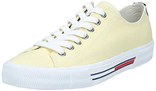 Tommy Hilfiger Damen WMN Classic Tommy Jeans Sneaker, Gelb (French Vanilla Za0), 39 EU