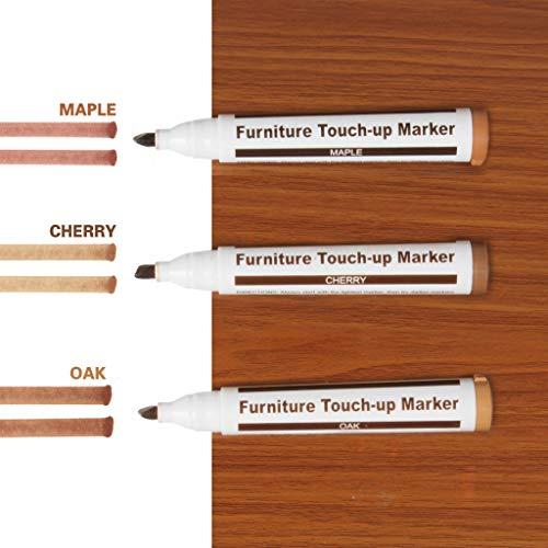 VNEIRW 3 STK Reparaturstifte Set Marker Stift Reparatur Fix Möbelkorrekturstift für zerkratzte Holzböden, Möbel, Tische, Wand. (A)