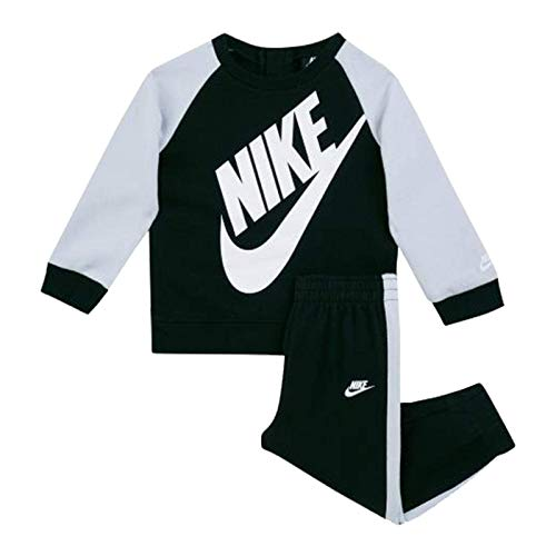 Nike - Tuta Oversized Futura Bambino Felpa e Pantaloni Bimbo 86F563 023 Nero - 4-5 Anni, Nero