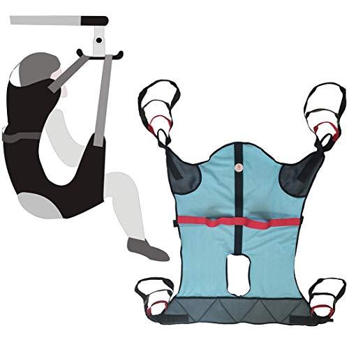 Levantador de cuerpo completo para personas mayores, bariátricas y discapacitadas - Eslinga de elevación de pacientes para transferir de la cama a la silla de ruedas, sillón reclinable o silla de