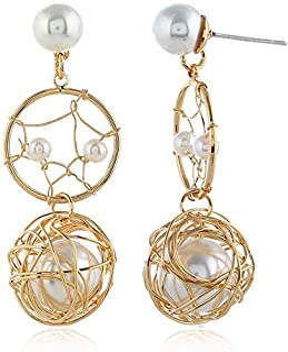 LSDAMW Earrings For Women Drop Dangle Girls Temperament Flower Earrings Sterling Silver Super Fairy Ear Hook