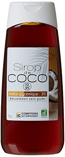 COMPTOIRS ET COMPAGNIES Sirop de Fleurs de Noix de Coco Bio 370 g