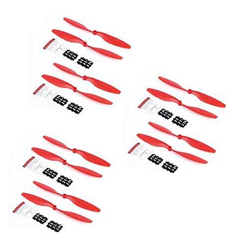 MZWNQ 12PCS 1045 Elica 10in 10X45 Accessori per Oggetti di Scena per F450 F550 Drone Quad- Copter Fai-da- Te RC Blade Pezzi di Ricambio Wing Fans ( Colore: Rosso)