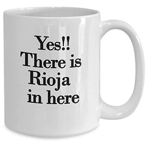 N\A Taza de los Amantes del Vino, Idea de Regalo novedosa de Rioja para cumpleaños, Navidad, Aniversario, Taza de café de té de cerámica