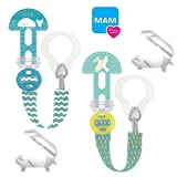 MAM - Lot de 2 sangles à tétine - Clip it Fashion & Cover - Avec protection de...