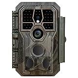 GardePro E5 Caméra de Chasse 24MP 1296P H.264 Vidéo, Jusqu' 30m Camera Chasse Infrarouge Vision Nocturne, Vitesse de Dclenchement 0,1s et Angle de Dtection 120°, No Glow 940nm IR LEDs
