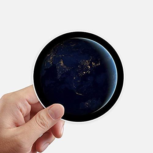 DIYthinker Univers Espace Bleu Planète Terre Autocollants 10CM Mur Valise pour Ordinateur Portable Motobike Decal 8Pcs diamètre 10Cm Multicolor