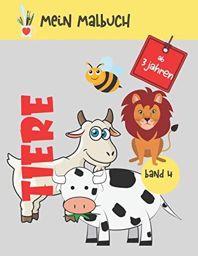 Mein Malbuch Tiere: 40 Zeichnungen von verschiedenen Tieren | Malbuch Tiere für Kinder ab 3 Jahren | Weihnachtsgeschenke | Aktivitätenbuch zur ... vom Bildschirm fernzuhalten | Mädchen, Jungen