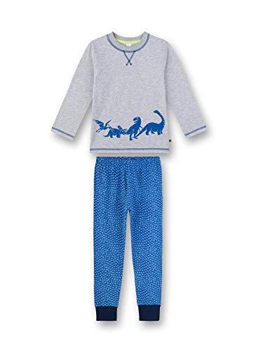 Sanetta Jungen Pyjama lang Zweiteiliger Schlafanzug, Grau (grau 1646), (Herstellergröße:140)