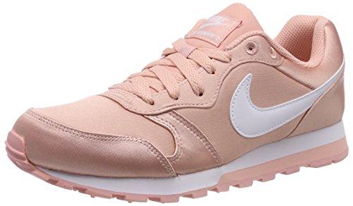 Nike Damen Md Runner 2 Gymnastikschuhe, Pink (Korall/Weiß Korall/Weiß), 40.5 EU