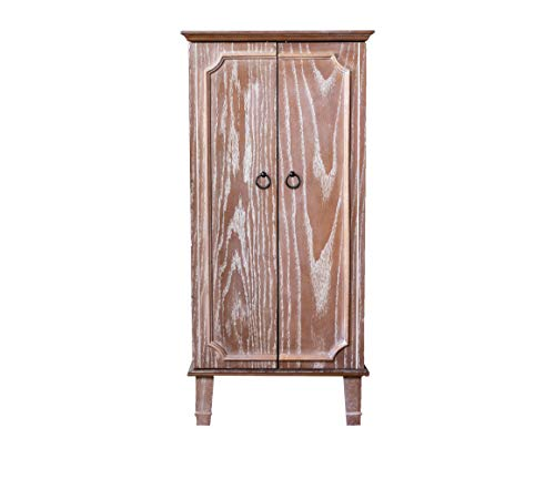 Hives and Honey Cabby Armoire Fully Locking Jewelry Cabinet, OAK