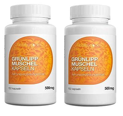 Natrea Grünlippmuschel Kapseln | 300 Kapseln hoch konzentriert ca. 120 Tage Anwendung reich an Omega-3-Fettsäuren für gesunde Gelenke und kräftige Sehnen