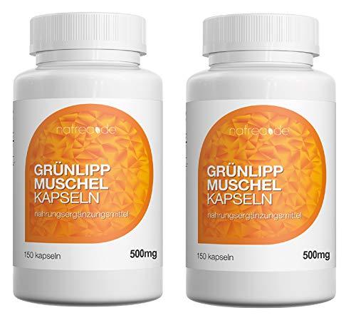 Natrea groene lippschelp capsules | 300 capsules hoog geconcentreerd ca. 120 dagen gebruik rijk aan omega-3-vetzuren voor gezonde gewrichten en krachtige pezen.
