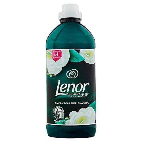 Lenor Weichspüler Smaragd und Blume der Elfenbeinküste, 42Waschgänge–1,05L–[8er-Packung]