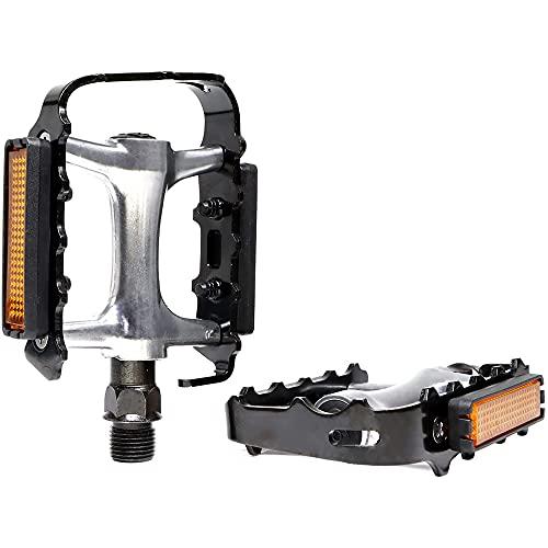 XGLIPQ Accesorios Generales para Montar Pedales de Bicicleta, Juegos de Pedales de Bicicleta Planos MTB, Reemplazo de Aluminio Antideslizante 9/16 para Mountain BMX Pedal Antideslizante de rodamiento