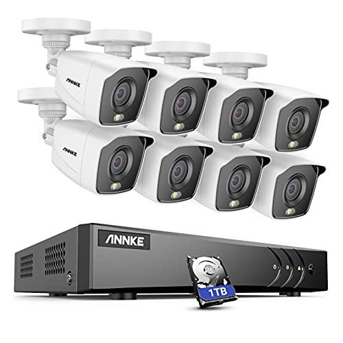 ANNKE FC200 Full Colour H.265+ CCTV Camera System, 8CH 5MP Lite...