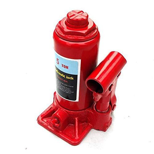 Ouqian-OP Gato hidráulico Hidráulico de Botella Jacks Red 5 tonelada de Capacidad 170/350 mm de Alta Resistencia de una Sola Pieza hidráulico para Auto