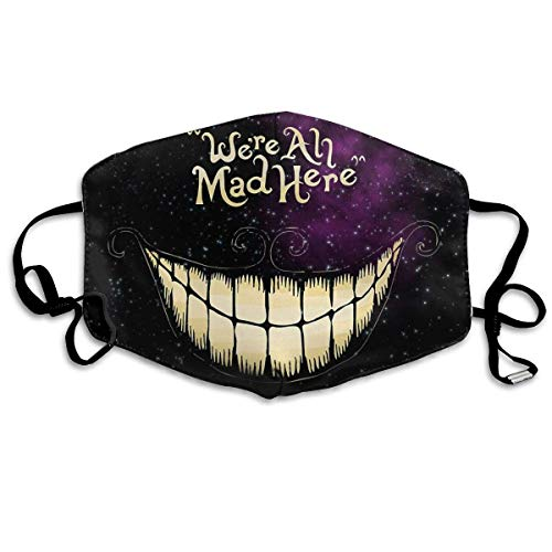 We're All Mad Here - Alice in Wonderland Unisex Outdoor Sport Mask Washable Reusable for Adult halloween mask