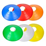 Football Sports Training Disc Boundry Marking Cones Assorted Colour Set Of 20 (Assorted)