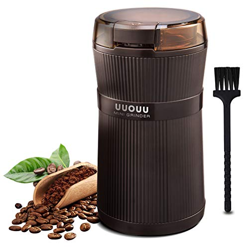 Coffee Grinder with Brush, UUOUU 200W Washable Bowl Spice Grinder with...