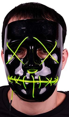 EUROCARNAVALES Máscara de La Purga Negra con luz