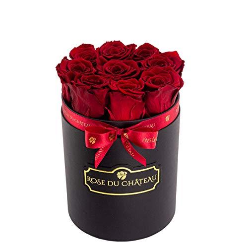 Rose du chateau - Ewige Rosen - Rosenbox - Flowerbox - Blumenbox - Echte Rosen die bis zu 2 Jahren blhen Blumen Blumendeko