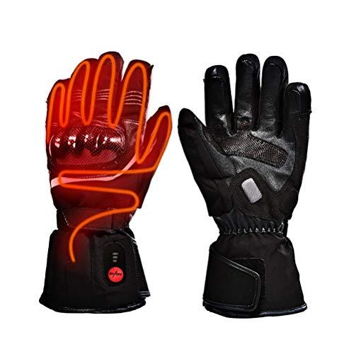 STTTBD Elektrische Beheizbare Wasserdicht Handschuhe Winterhandschuhe mit Wiederaufladbare Beheizte Motorrad Handwärmer Ideal für Motorrad,Reiten,Jagen,Christmas