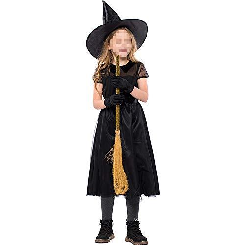 kMOoz Cosplay kostuum, halloween Outfit,kids Halloween Heks Fancy Adress Kostuum Cosplay Halloween Feest, kinderen Heks Kostuum Zwart Gaas Kleine Heks Cos Jurk Dagelijks Draag