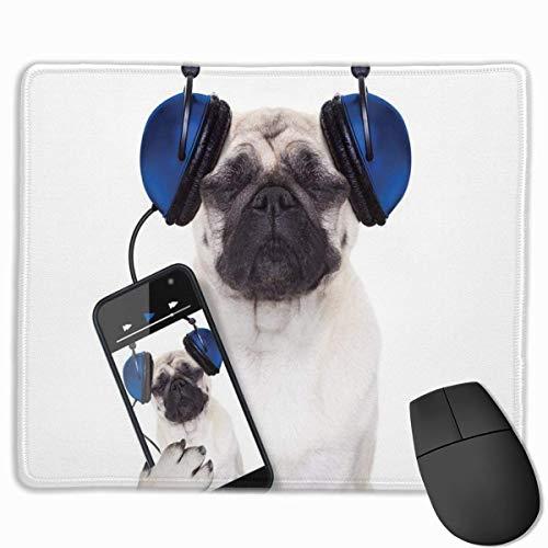 Alfombrilla de ratón Divertida para Escuchar música con Bordes cosidos, Alfombrilla de Escritorio Antideslizante, Alfombrilla de ratón para Juegos