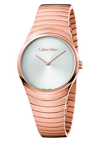 Calvin Klein Damen Analog Quarz Uhr mit Paqué or Armband K8A23646