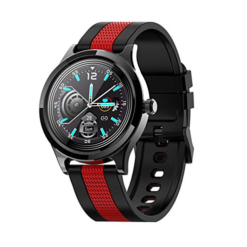 Gulu Smart Watch Men Mujeres IP68 Impermeable SmartWatch 2021 Pedómetro Rate Heart Rate Soulsion Sports Watch para iOS Android,D