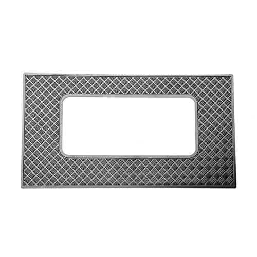 Hong Yi-HAT Placa de decoración de la placa antideslizante de la placa antideslizante de tragaluz de metal T4 Año de la decoración de la placa de cáscara del coche adecuado para 1/10 TRAXXAS TRX4 TRX-