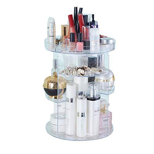 Étagère multifonctionnelle de beauté tournant la boîte de stockage acrylique de soin de peau de boîte de rangement de soin de peau de cosmétiques/la boîte de stockage/support de stockage